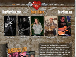 Website Design / Development & SEO Heartless Live Band